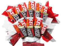 Load image into Gallery viewer, Hershey Miniatures Chocolate Candy Bouquet in Galvanized Watering Can closeup