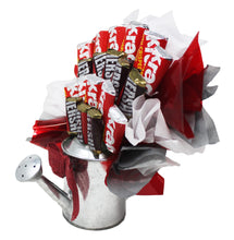 Load image into Gallery viewer, Hershey Miniatures Chocolate Candy Bouquet in Galvanized Watering Can side view