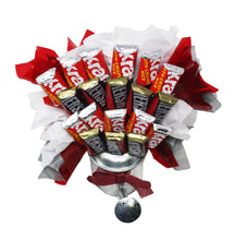 Load image into Gallery viewer, Hershey Miniatures Chocolate Candy Bouquet in Galvanized Watering Can top view