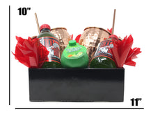 Load image into Gallery viewer, Moscow Mule Cocktail Gift Basket Dimensions