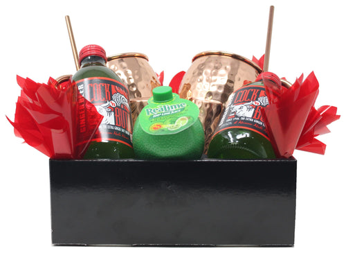 Moscow Mule Cocktail Gift Basket Front