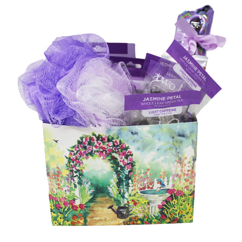 Home Spa Gift Set Lavender Themed Front View