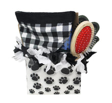 Load image into Gallery viewer, New Puppy Dog Gift Box image showing back of paw print box