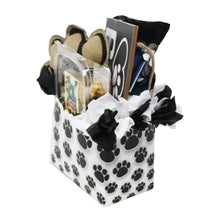 Load image into Gallery viewer, New Puppy Dog Gift Box image showing side of paw print box