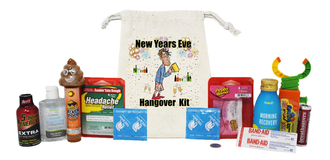 New Years Eve Hangovel Kit Male Contents