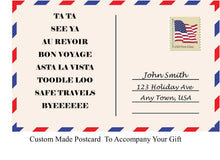 Load image into Gallery viewer, POST CARD GIFT TAG FOR MENS TRAVEL KIT