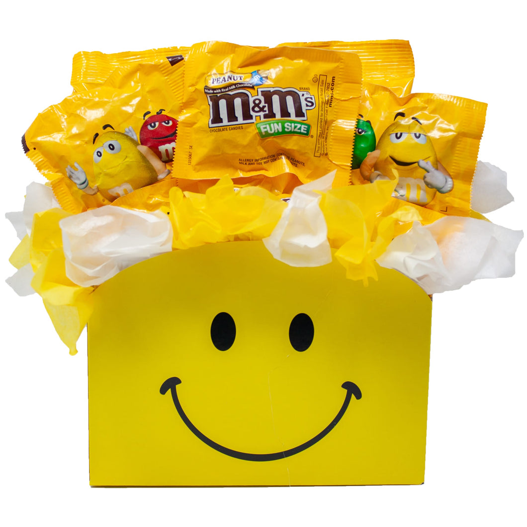 Peanut MM Candy Bouquet Gift Box Front