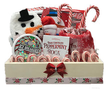 Load image into Gallery viewer, Peppermint Lovers Gift Basket a Unique Holiday Gift Idea for Friends front view