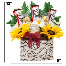 Load image into Gallery viewer, Pick Me Up Bouquet Gift Box With Ferrero Rocher and Dark Chocolates