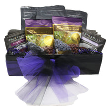 Load image into Gallery viewer, Premium Blends Coffee Tea Sampler Gift Basket front