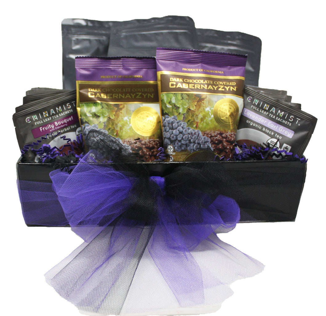 Premium Blends Coffee Tea Sampler Gift Basket front