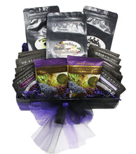 Load image into Gallery viewer, Premium Blends Coffee Tea Sampler Gift Basket top
