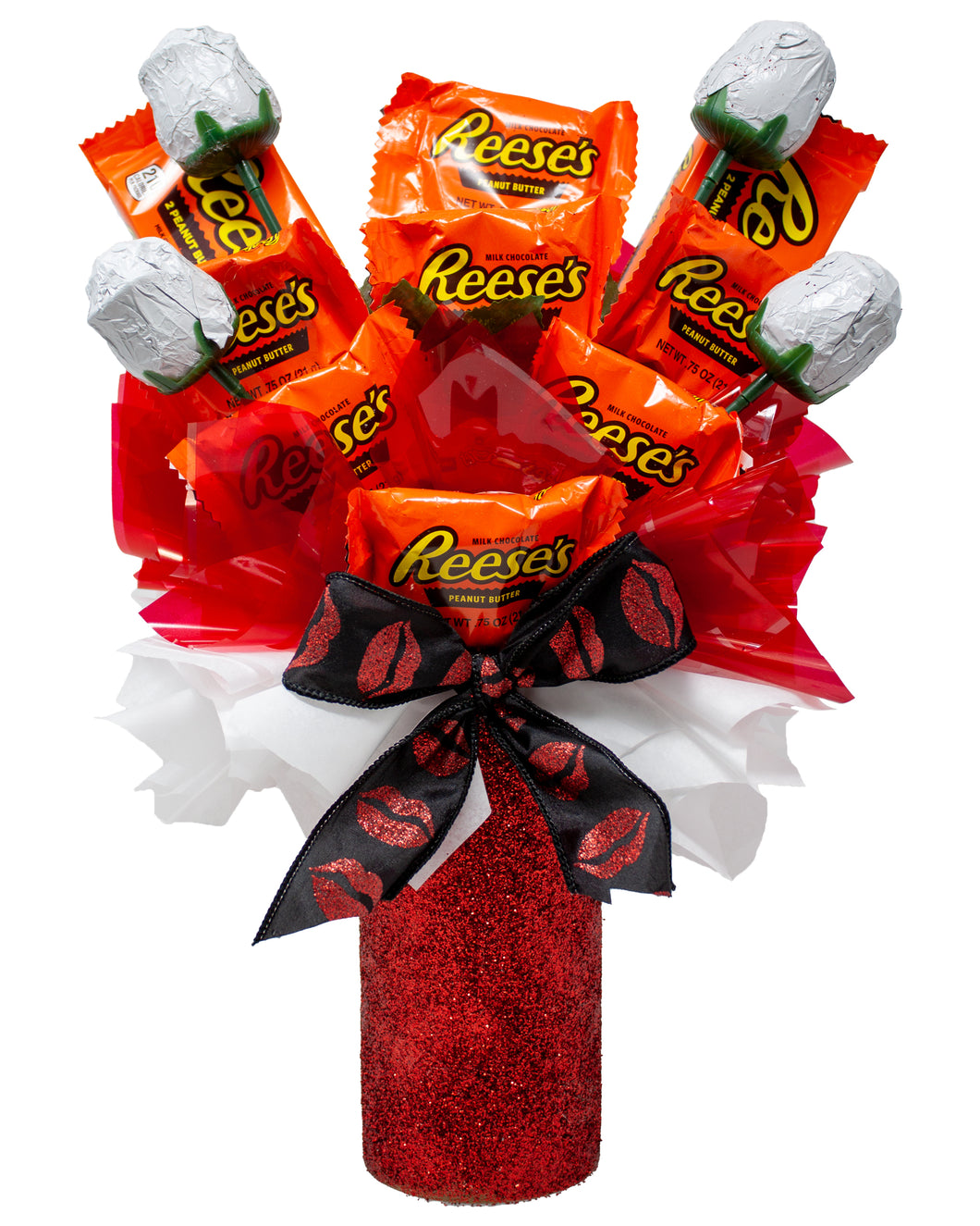 Reese's and Chocolate Roses Valentine's Candy Bouquet