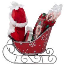 Load image into Gallery viewer, Santas Sleigh Candy Gift Basket Back