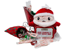 Load image into Gallery viewer, Santas Sleigh Candy Gift Basket Contents