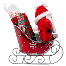 Load image into Gallery viewer, Santas Sleigh Candy Gift Basket Front