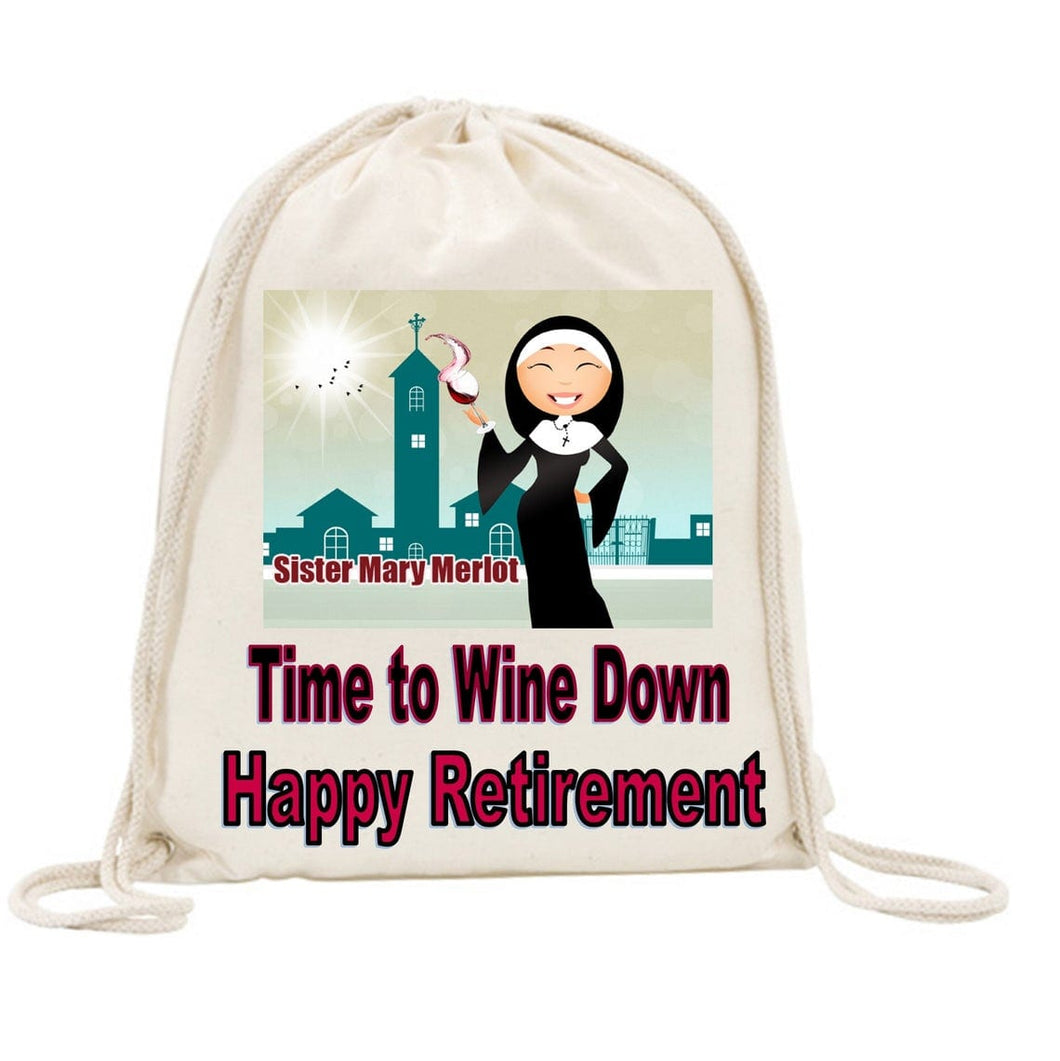 Sister Mary Merlot Drawstring Bag Alternative 2