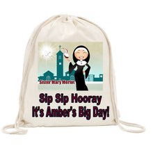Load image into Gallery viewer, Sister Mary Merlot Drawstring Bag Alternative
