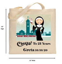 Load image into Gallery viewer, Sister Mary Merlot Tote Bag