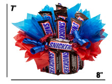 Load image into Gallery viewer, Snickers Fun Size Candy Bouquet You're Not You When You're Hangry