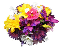 Load image into Gallery viewer, Faux Flower Arrangement springtime bouquet view of top