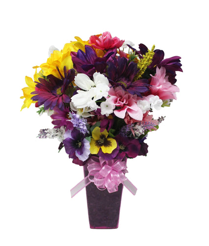 Faux Flower Arrangement springtime bouquet