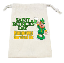 Load image into Gallery viewer, St. Patricks Day Hangover Survival Kit Empty Bag