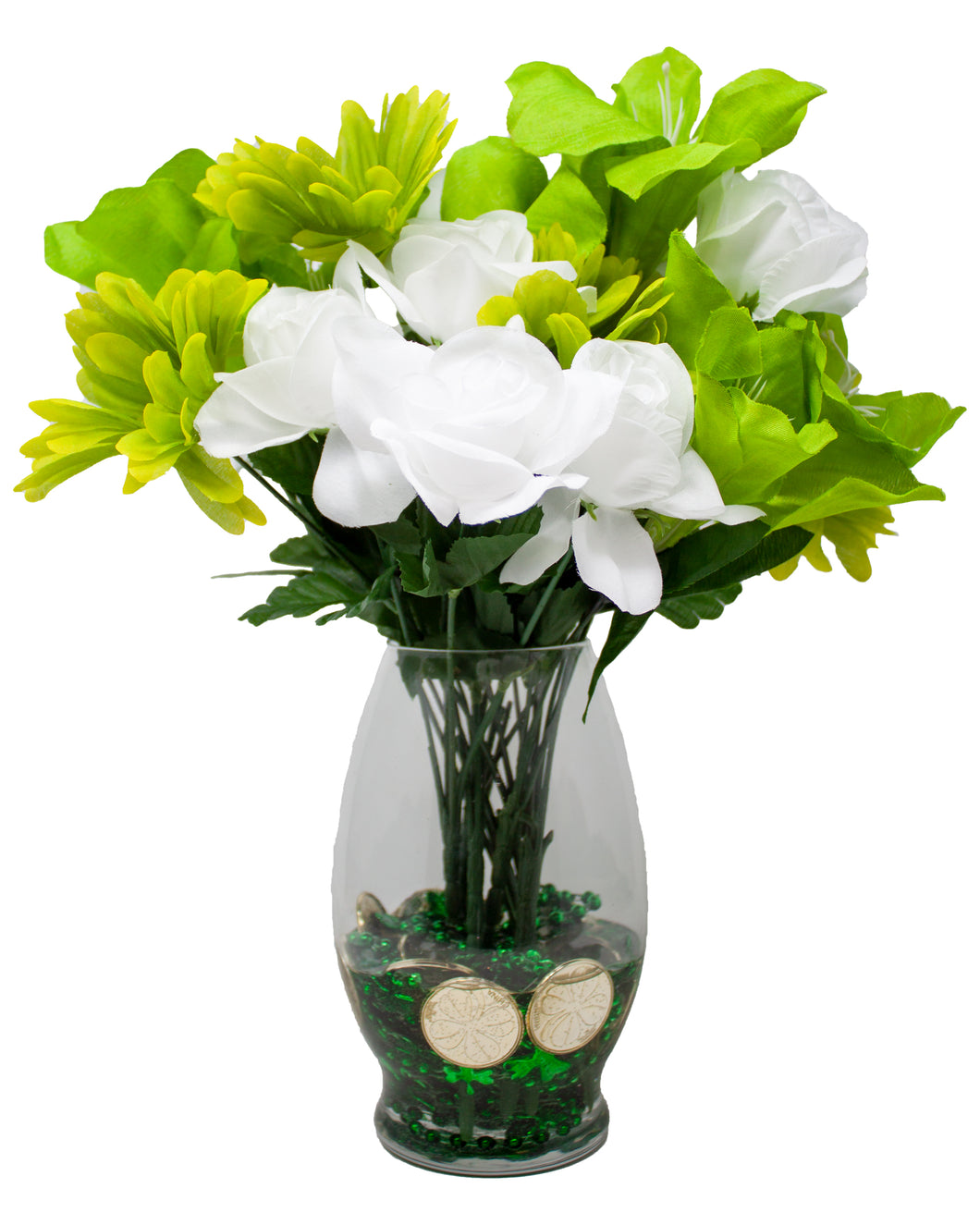 St Patrick's Day Faux Flower Bouquet | Home, Office Décor