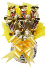 Load image into Gallery viewer, Sunshine Chocolate Candy Bouquet Closeup scaled