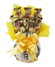 Load image into Gallery viewer, Sunshine Chocolate Candy Bouquet Front