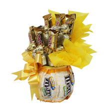 Load image into Gallery viewer, Sunshine Chocolate Candy Bouquet Side 1