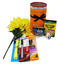 Load image into Gallery viewer, TEACHER APPRECIATION GIFT IN HAND MADE PENCIL VASE CONTENTS