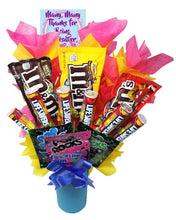 Load image into Gallery viewer, Appreciation Candy Bouquet top viewYou Rock Bouquet top