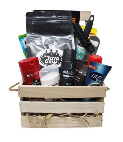 The Ultimate Manly Man Gift Crate for the Impossible Man Who Has Everything front view