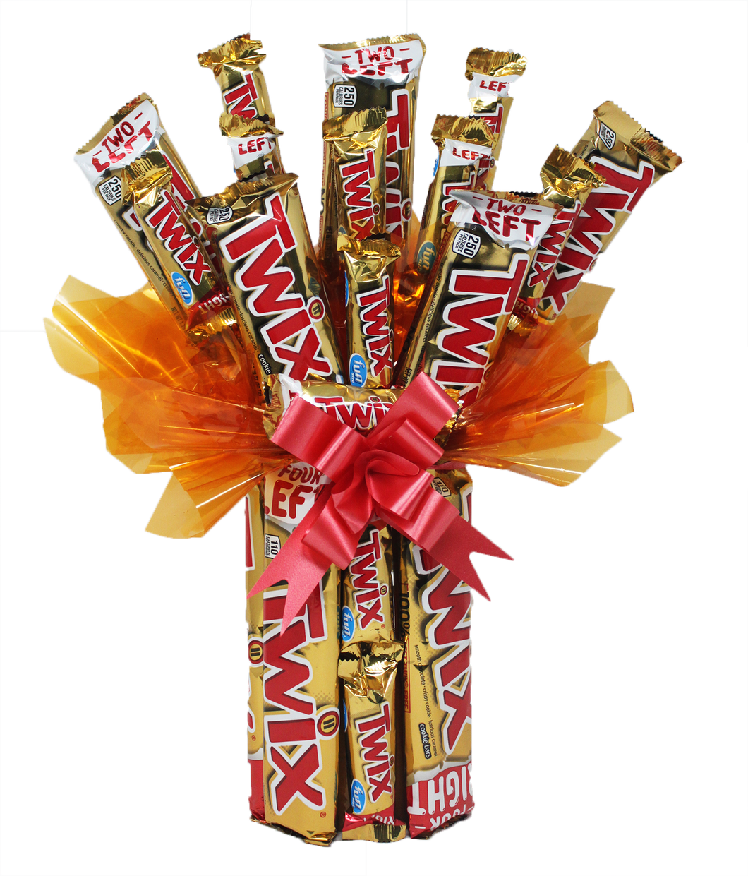 Twix Candy Bar Bouquet Front View
