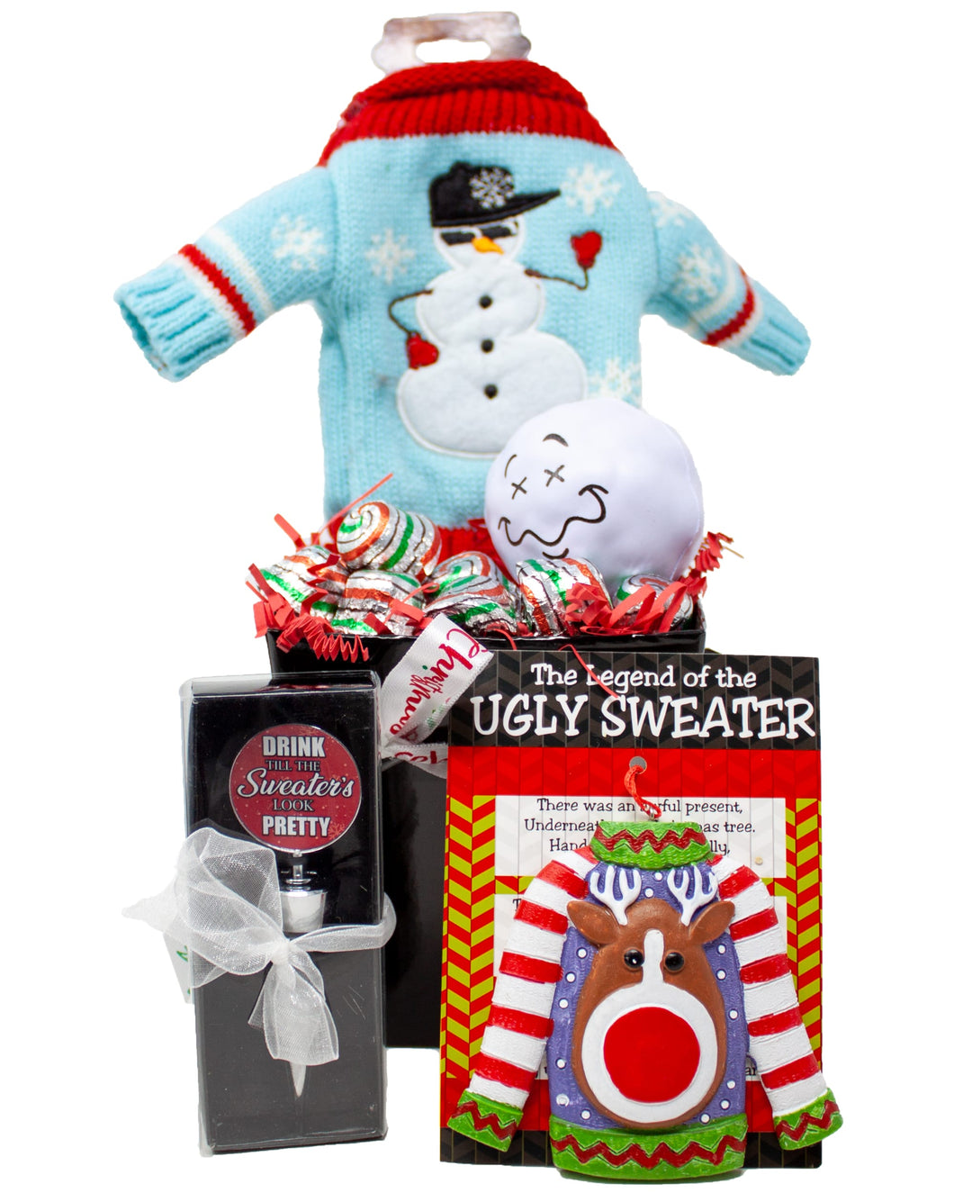 Ugly Sweater for Your Wine Holiday Gift Box Contents