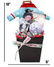 Load image into Gallery viewer, Ugly Sweater for Your Wine Holiday Gift Box Dimensions
