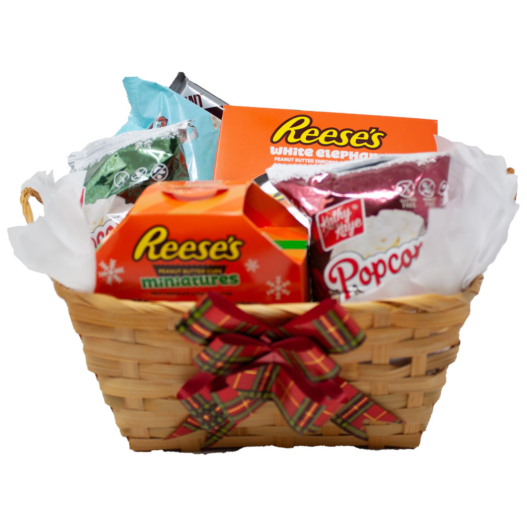 Ultimate White Elephant Gift Basket Front