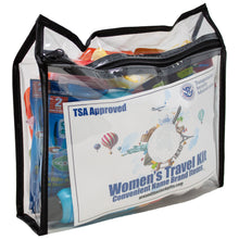 Load image into Gallery viewer, Women's Travel Toiletry Kit TSA Approved with Name Brand Items