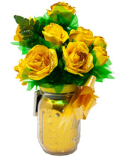 Load image into Gallery viewer, Yellow Paper Rose Bouquet with Glitter & Fairy Lights