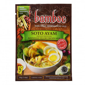 Bamboe Bumbu Soto Ayam (Instant Spices For Yellow Chicken Soup) 40g