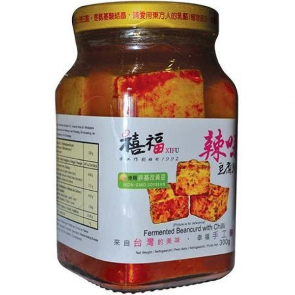 Xi Fu Fermented Beancurd With Chilli / 禧福豆腐乳 辣味 300g