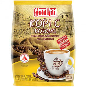 GOLD KILI Kopi C Kosong 2in1 Coffee with Creamer 300g / 二合一淡奶味咖啡粉 300g