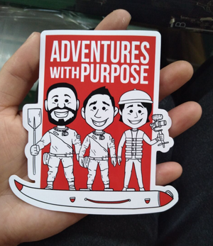 Vinyl Stickers: Sam, Jared and Dan in Boat