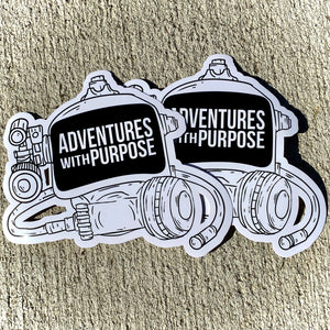 Vinyl Stickers: Adventures With Purpose Dive Mask