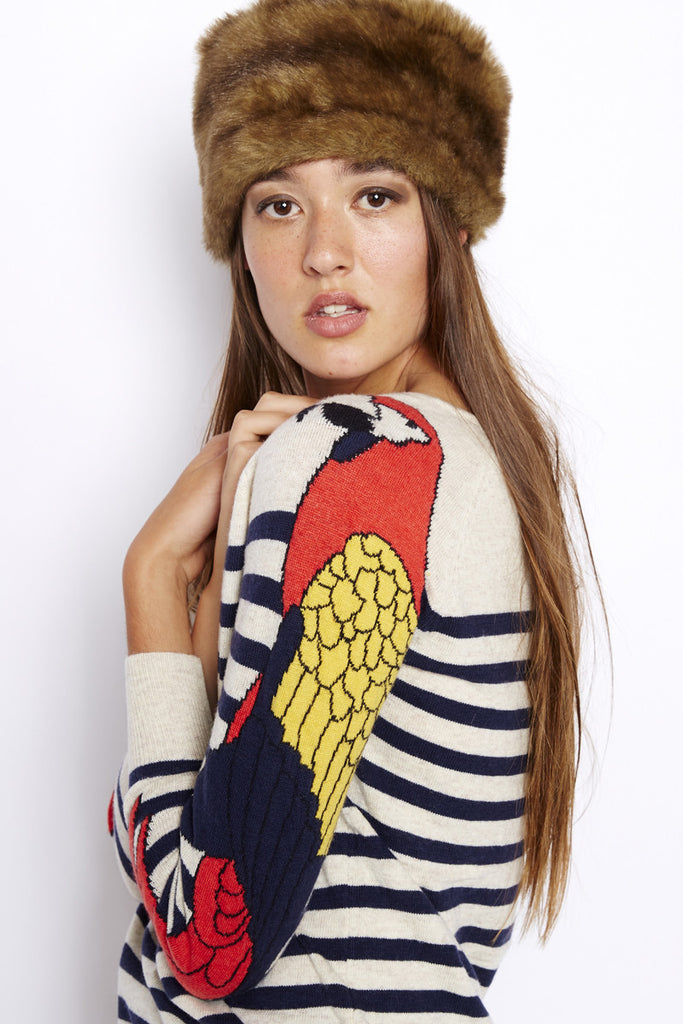 Cream Parrot Sweater
