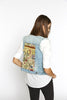 Vintage flowers & Tassels Back Denim Vest