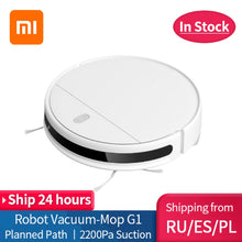 Load image into Gallery viewer, New XIAOMI MIJIA Mi Sweeping Mopping Robot Vacuum Cleaner G1 for home cordless Washing 2200PA cyclone Suction Smart Planned WIFI