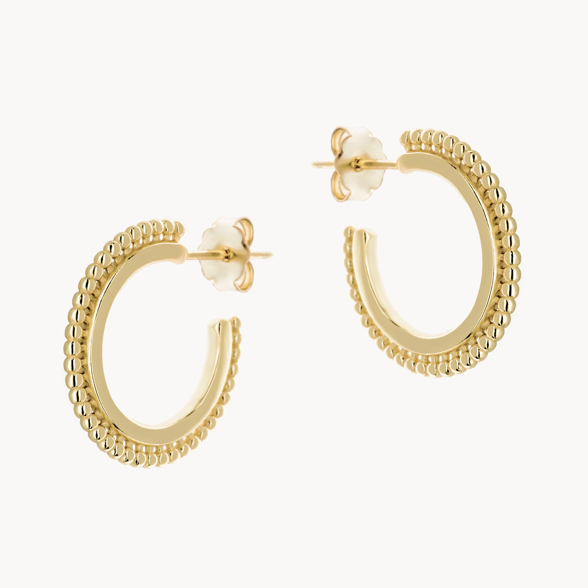 Gold Beaded Boho Hoop earrings