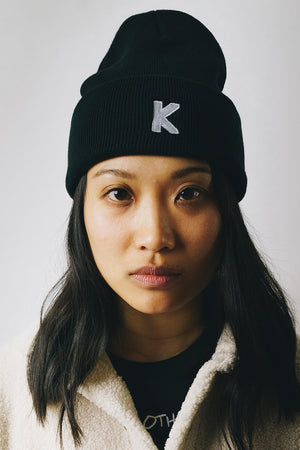Load image into Gallery viewer, Becoming Who We Are K Logo Beanie